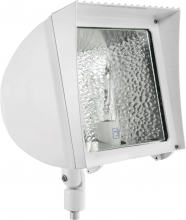 RAB Lighting FXH70QTW - FLEXFLOOD 70W MH QT HPF WITH ARM + LAMP WHITE