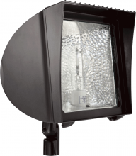 RAB Lighting FXH100QT/PC - FLEXFLOOD 100W MH QT HPF W/ARM + LAMP + 120V PC BRONZE