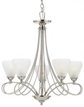 Quoizel DK5005IS - Five Light Imperial Silver White Frosted Cirrus Glass Up Chandelier