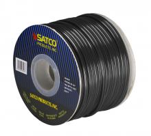 Satco Products Inc. 93/127 - Bulk Wire; 18/2 SPT-2 105°C; 250 Foot Spool; Black