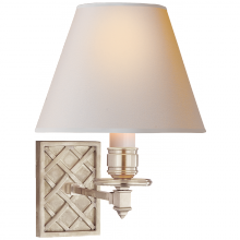 Visual Comfort AH 2015BN-NP - Gene Single Arm Sconce in Brushed Nickel with Na