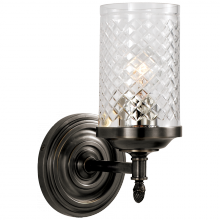 Visual Comfort AH 2201BZ-CG - Lita Single Sconce in Bronze with Crystal