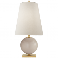 Visual Comfort KS 3101BLS-L - Corbin Mini Accent Lamp in Blush with Linen Shad