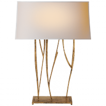Visual Comfort S 3051GI-NP - Aspen Console Lamp in Gilded Iron with Natural P