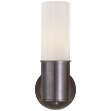 Visual Comfort TOB 2011BZ-WG - Metropolitan Sconce in Bronze with White Glass