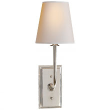 Visual Comfort TOB 2190PN-NP - Hulton Sconce in Polished Nickel with Crystal Ba