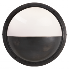 Visual Comfort TOB 2208BZ-WG - Pelham Moon Light in Bronze with White Glass