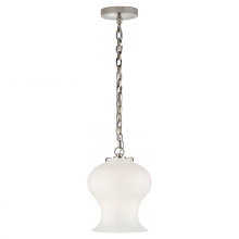 Visual Comfort TOB 5226PN/G1-WG - Katie Bell Jar Pendant in Polished Nickel with W