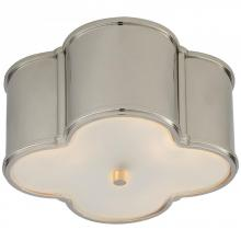 Visual Comfort AH 4014PN-FG - Basil Small Flush Mount in Polished Nickel with