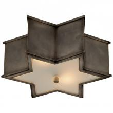 Visual Comfort AH 4016GM-FG - Sophia Small Flush Mount in Gun Metal with Frost