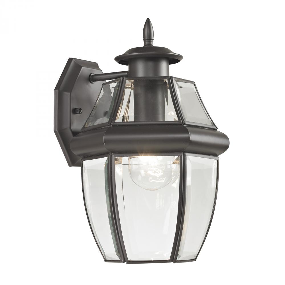 Ashford 1 Light Exterior Coach Lantern In Oil Ru