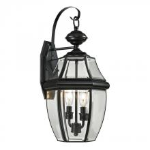 Elk Cornerstone 8602EW/60 - Ashford 2 Light Exterior Coach Lantern In Black