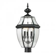 Elk Cornerstone 8603EP/60 - Ashford 3 Light Exterior Post Lantern In Black