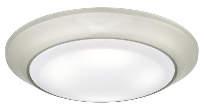 Large LED Surface Mount Brushed Nickel Finish with Frosted Lens, Dimmable