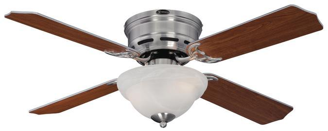 "42"" Brushed Nickel Finish Reversible Blades (Dark Cherry/Rosewood) Includes Light Fixture with"