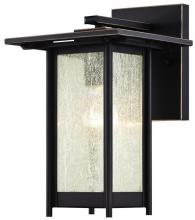 Westinghouse 6203900 - 1 Light Wall Fixture Oil Rubbed Bronze Finish with Highlights and Clear Seeded Glass