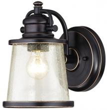 Westinghouse 6204000 - 1 Light Wall Lantern Amber Bronze Finish with Highlights and Clear Seeded Glass