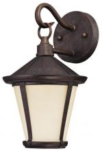 Westinghouse 6204100 - 1 Light LED Wall Lantern Victorian Bronze Finish with Amber Frosted Glass