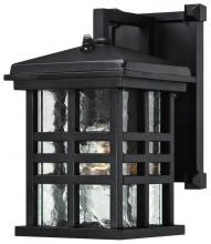 Westinghouse 6204500 - 1 Light Wall Fixture with Dusk to Dawn Sensor Textured Black Finish with Clear Water Glass