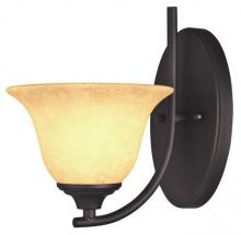 Westinghouse 6222000 - 1 Light Wall Fixture Oil Rubbed Bronze Finish with Burnt Scavo Glass