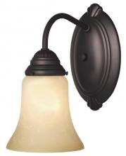 Westinghouse 6223800 - 1 Light Wall Oil Rubbed Bronze Finish with Aged Alabaster Glass