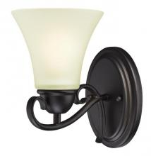 Westinghouse 6306600 - 1 Light Wall Oil Rubbed Bronze Finish with Frosted Glass