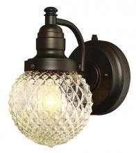 Westinghouse 6313700 - 1 Light Wall Fixture with Dusk to Dawn Sensor Oil Rubbed Bronze Finish with Clear Diamond Cut Glass