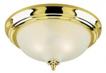 Westinghouse 6430200 - 2 Light Flush Polished Brass Finish with Frosted Swirl Glass