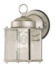 Westinghouse 6468400 - 1 Light Wall Fixture Antique Silver Finish with Clear Glass