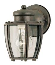 Westinghouse 6468900 - 1 Light Wall Lantern Textured Rust Patina Finish with Clear Curved Glass