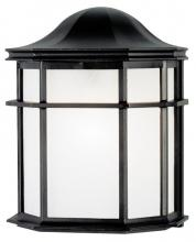 Westinghouse 6689800 - 1 Light Wall Lantern Textured Black Finish with White Acrylic Lens