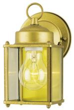 Westinghouse 6693800 - 1 Light Wall Lantern Goldenrod Finish on Steel with Clear Glass Panels