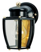 Westinghouse 6696100 - 1 Light Wall Lantern Matte Black Finish with Clear Curved Glass