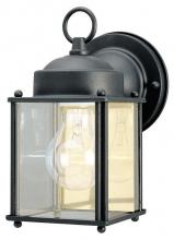 Westinghouse 6697200 - 1 Light Wall Fixture Textured Black Finish with Clear Glass