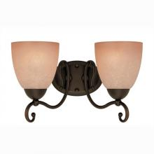 Westinghouse 6933600 - 2 Light Wall Fixture Oil Rubbed Bronze Finish with Aged Alabaster Glass