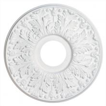 Westinghouse 7702800 - Victorian White Finish Molded Plastic Ceiling Medallion