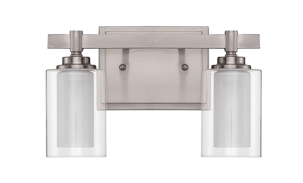 Celeste 2 Light Vanity in Brushed Polished Nickel