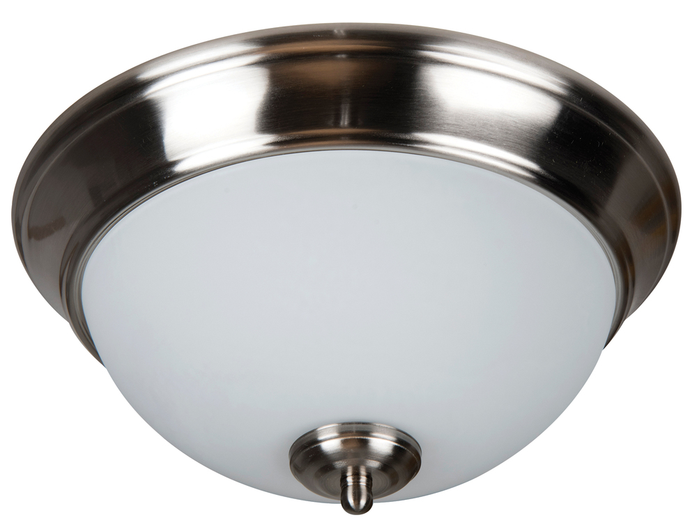 "Pro Builder 2 Light 11"" Flushmount in Brushed Polished Nickel"