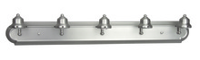Jeremiah 11736BN5 - Racetrack 5 Light Arch Arm Vanity in Brushed Satin Nickel