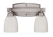 Jeremiah 14715BNK2 - Bridwell 2 Light Vanity in Brushed Satin Nickel