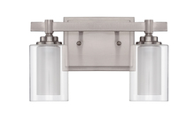 Jeremiah 16712BNK2 - Celeste 2 Light Vanity in Brushed Polished Nickel