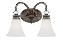 Jeremiah 26702-MB - Boulevard 2 Light Vanity in Mocha Bronze/Silver Accents