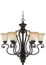 Jeremiah 28226-ABZG - Josephine 6 Light Chandelier in Antique Bronze/Gold Accents