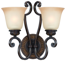 Jeremiah 28262-ABZG - Josephine 2 Light Wall Sconce in Antique Bronze/Gold Accents