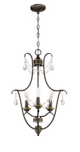 Jeremiah 41133-LB - Lilith 3 Light Foyer in Legacy Brass