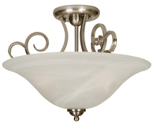 Jeremiah 7118BN3SF - Cecilia 3 Light Semi Flush in Brushed Satin Nickel