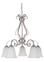 Jeremiah 7125BN5-WG - Cecilia 5 Light Down Chandelier in Brushed Satin Nickel