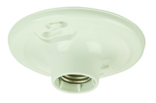 Jeremiah K212-P - Plastic Keyless Socket Lamp Holder in White Plastic