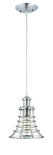 Jeremiah P350BNK1 - 1 Light Mini Pendant with Cord in Brushed Polished Nickel