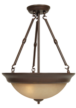 Jeremiah X725-AG - 3 Light Inverted Pendant in Aged Bronze Textured